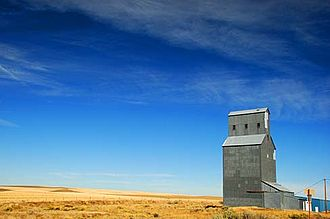 Gilliam County, Oregon - Old grain elevator in Gwendolen, in Gilliam County.