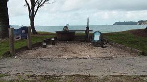 HMS Buffalo (1813) - The memorial for H.M.S. Buffalo located at Buffalo Beach, Whitianga.