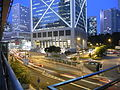 HK Central night 花園道 Garden Road view Bank of China Tower blue sky Sept-2010.JPG
