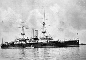 HMS Empress of India - Empress of India at anchor, about 1897