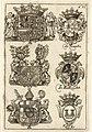 HUA-38706-Afbeelding van de wapens van de afgevaardigden De Weerts De Malknecht en Karg vertegenwoordigers namens Oostenrijk Beijeren en Keulen bij de onderhand.jpg