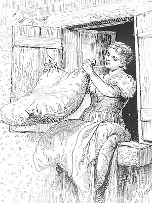 Frau Holle - Frau Holle, illustration by Hermann Vogel