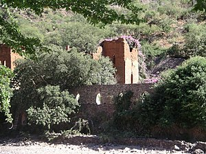 Batopilas, Chihuahua - The ruins of the Hacienda San Miguel in Batopilas (2005).