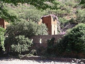Batopilas, Chihuahua - The ruins of the Hacienda San Miguel in Batopilas (2005).