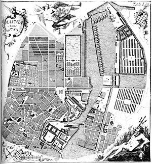 Hafnia Hodierna - Map of Copenhagen - the first illustration of Hafnia Hodierna