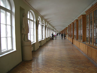 Saint Petersburg State University - Hallway in the Twelve Collegia building, St. Petersburg State University: one of the longest academic hallways in the world