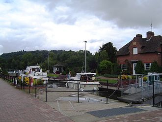 Hambleden Lock - Looking upstream from the lock