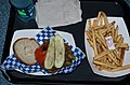 Hamburger and Fries, Taste Pilots Grill 2014.jpg