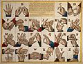 Hands showing the sign language alphabet. Coloured etching. Wellcome V0016552.jpg