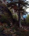 Hans Gude - Hvile på stien (1878).jpg