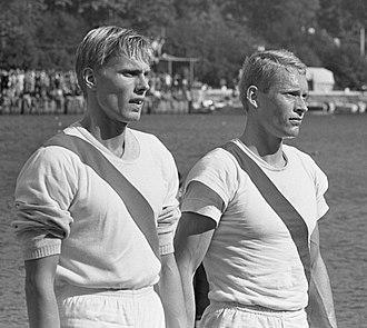 Peter Christiansen (rower) - Hans Jørgen Boye and Peter Christiansen in 1965