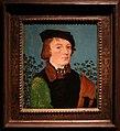 Hans baldung, ritratto d'uomo davanti a un roseto, 1512-13 ca.jpg