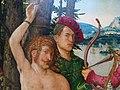 Hans baldung grien, martirio di santo sebastiano coi santi stefano, cristoforo, apollonia, dorotea, 1507, 12.JPG
