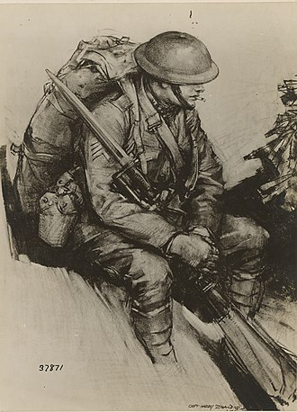 Harry Everett Townsend - Image: Harry Everett Townsend Drawing of Pvt Berhens S.C. 111 SC 37871 NARA 55234903 (cropped)