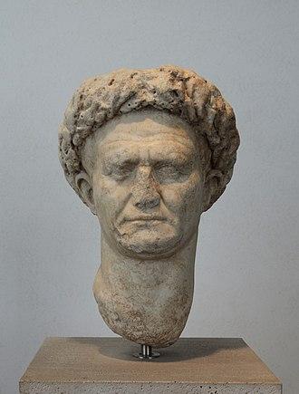 Vespasian - Image: Head of Vespasianus in Palazzo Massimo (Rome)