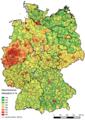Hebesatz Gewerbesteuer Deutschland 2014.png