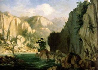 Henric Trenk - The Olt at Cârlige (1868)