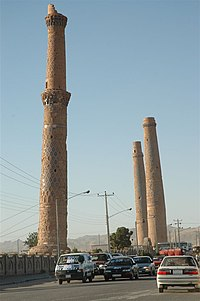 Ruins of the Musalla complex's minarets.