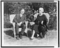 Herbert Hoover and Mrs. Hoover, full-length portrait, seated on wicker chairs, facing front LCCN2002712178.jpg