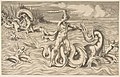 Hercules fight adragon in the centre, Achelous carrying off Deianeira upper left MET DP812784.jpg