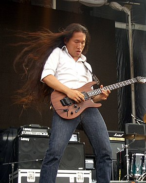 Herman Li, guitarist from DragonForce band, at...
