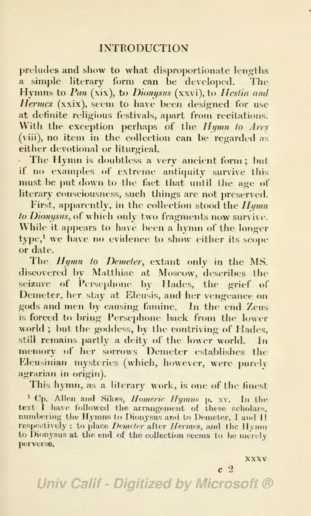 homeric hymn to dionysus