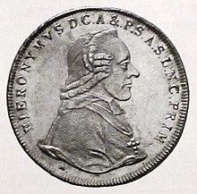 Hieronymus von Colloredo, Taler von 1803 (Quelle: Wikimedia)