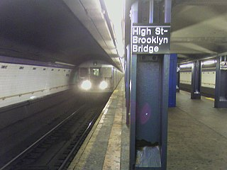 High Street (IND Eighth Avenue Line) New York City Subway station in Brooklyn
