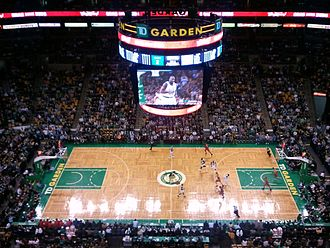 Parquetry - The iconic parquet floor used by the Boston Celtics at TD Garden