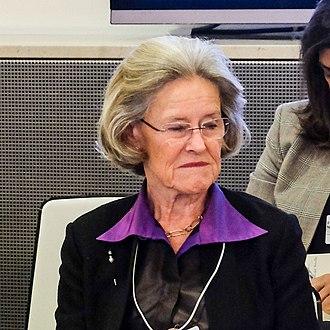 Schwab Foundation for Social Entrepreneurship - Hilde Schwab at the WEF Social Entrepreneurs Wrap-up in 2018