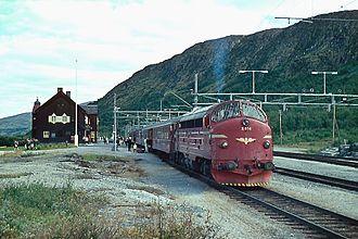 Dovre Line - Hjerkinn station at the Dovre Line, 1970