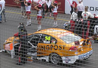 Jason Bright - The Brad Jones Racing entered Holden VE Commodore of Jason Bright at the 2010 Clipsal 500 Adelaide