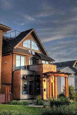 Strathcona, Edmonton - A house facing the North Saskatchewan river valley, on Saskatchewan Drive in Strathcona.