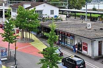 Horgen railway station - Image: Horgen Bahnhof 2011 07 23 17 47 52 Shift N