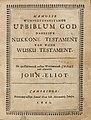 Houghton AC6 Eℓ452 663m - John Eliot, 1663, title.jpg