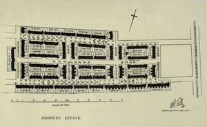 Norbury Estate - Plan of the Norbury Estate from the Report of the Housing for the Working Classes Committee, London County Council, 1912–1913