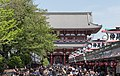 Hozomon Gate, Tokyo, South view from Nakamise Shopping Street 20190420 1.jpg