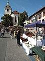 Hrnčířské trhy Beroun 2011, pohled ke kostelu.JPG