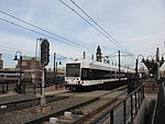 Hudson-Bergen Light Rail train leaving Hoboken.JPG