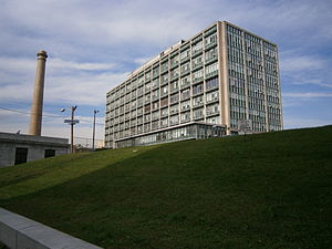 Hilltop, Jersey City - Hudson County Administration Building seen from Pavonia Avenue