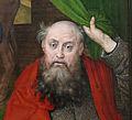 Hugo van der Goes, adorazione dei pastori tra due profeti, 1480 ca. 20.JPG
