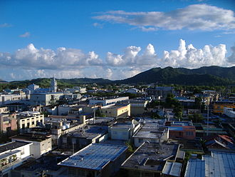 Humacao, Puerto Rico - Downtown Humacao from its city hall.