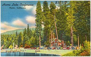 Hume Lake - 1940s conference postcard