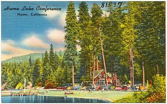 Hume Lake - 1940s conference postcard