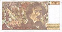 100 francs Delacroix, Face verso