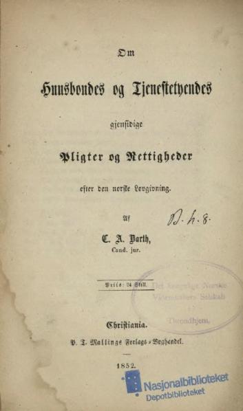 File:Husbondes og Tjenestetyendes Pligter og Rettigheder.djvu