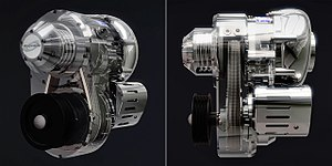 Variable-ratio centrifugal- supercharger - Image: I1 variable ratio supercharger cutaways