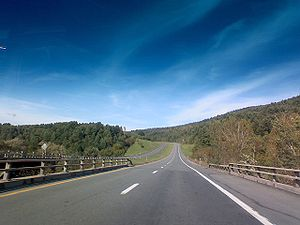 Interstate 93 - Southbound I-93 at Hudson Road, St. Johnsbury, VT