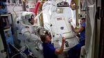 ISS-46 Scott Kelly and Tim Kopra in the Quest airlock before spacewalk.jpg