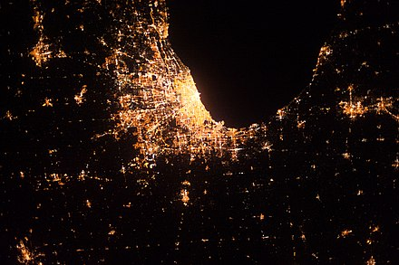 Cook County and adjacent counties, from ISS Expedition 37 in 2013. ISS037-E-8322.jpg